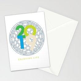 2019 - enjoying your life saying Stationery Cards