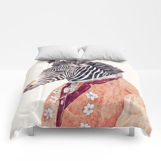 Zebra Cream Comforters