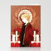 kieren walker Stationery Cards featuring kieren by suto