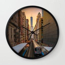 Adams/Wabash Station Wall Clock