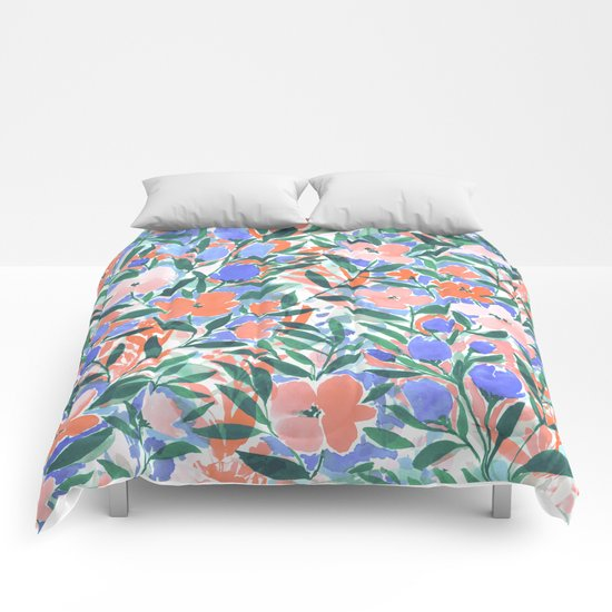 Nonchalant Coral Comforters