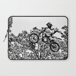 Stealing the Air - Freestyle Motocross Rider Laptop Sleeve