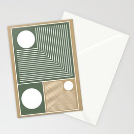 Stylish Geometric Abstract Stationery Cards