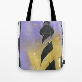 Cape Hatteras lighthouse- Outer Banks, North Carolina.  Lighthouse painting OBX. Tote Bag