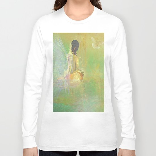 The angel and the dove of the peace Long Sleeve T-shirt