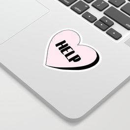 Help Candy Heart Sticker