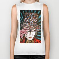 willy wonka Biker Tanks featuring Johnny Depp as Willy Wonka by Portraits on the Periphery