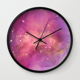 Alcohol Ink - Nebula 1 Wall Clock