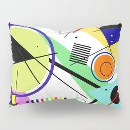 Retro Crazy - Abstract, random, crazy, geometric, colourful artwork Pillow Sham