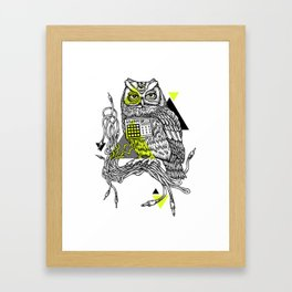 DiscOwl 2c Framed Art Print