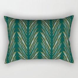 Wheat Grass Teal Rectangular Pillow