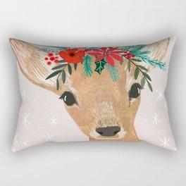 Christmas Deer Rectangular Pillow