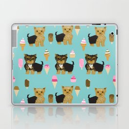 Yorkie ice cream gifts yorkshire terrier dog lover pet friendly patterns minty Laptop & iPad Skin