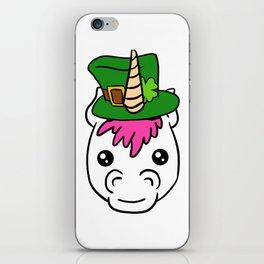 Leprechaun Unicorn - St. Patricks Day iPhone Skin