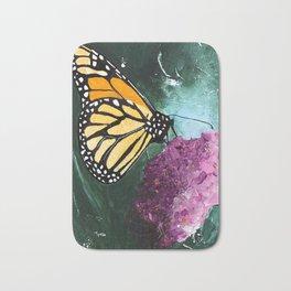 Butterfly - Soft Awakening - by LiliFlore Bath Mat