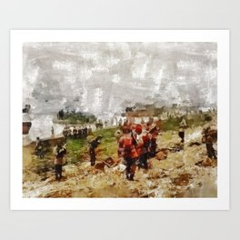 Operation Cottage, WWII Art Print