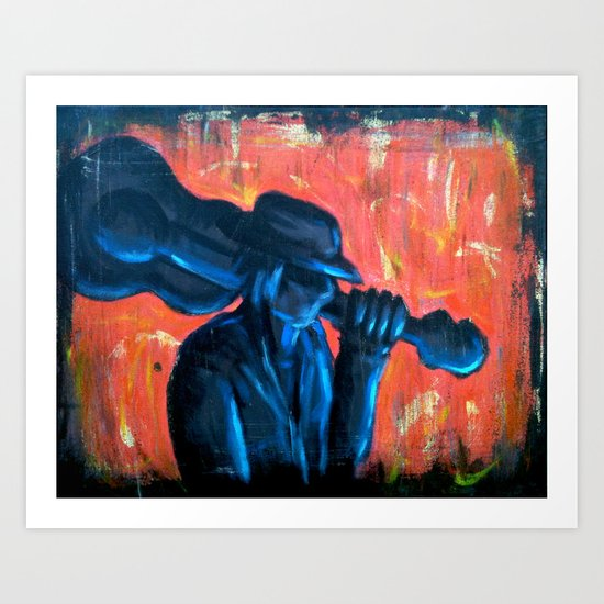Blues Man Art Print