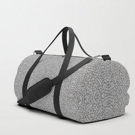 Black and white swirls doodles Duffle Bag