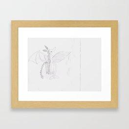 split creature Framed Art Print