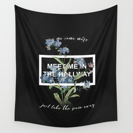 Harry Styles Meet me in the hallway graphic design artwork Wall Tapestry