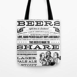 Billy & Bones Hand Crafted Beer Tote Bag