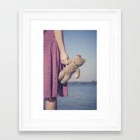 teddy bear Framed Art Prints featuring Teddy by Maria Heyens
