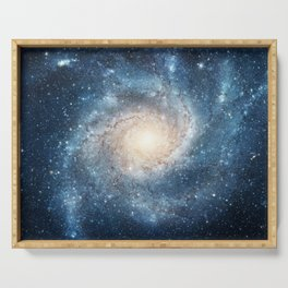 Spiral Galaxy Serving Tray