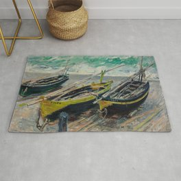 Three Fishing Boats Rug