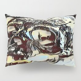 Metal Paper Skull Pillow Sham