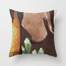 Original Bending Masters Series: Badgermoles Throw Pillow