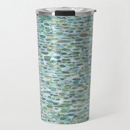 Blue Raindrops Juul art Travel Mug
