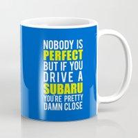 subaru Mugs featuring Subaru Owners  by Barbo's Art