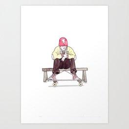 Skate Jock Art Print