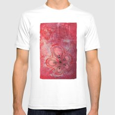 Drowing White Mens Fitted Tee MEDIUM