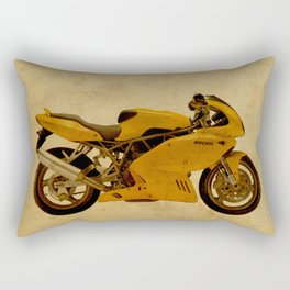 motorcyle yellow artistic vintage background Rectangular Pillow
