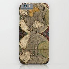 1595 Vera Totius Expeditionis Nauticae - Map of Sir Francis Drake's Circumnavigation of the Globe iPhone Case