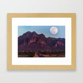 Super Blue Moon over Arizona #society6 #decor #buyart Framed Art Print