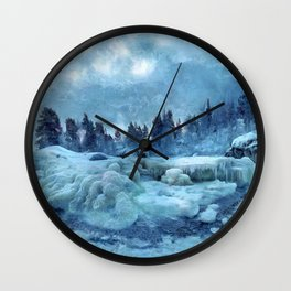 Blue Land Wall Clock