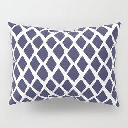 Rhombus Blue And White Pillow Sham