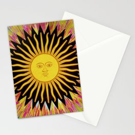 Psychedelic Sun Star Stationery Cards