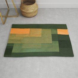 """Paul Klee """"Tower in Orange and Green 1922"""" Rug"""