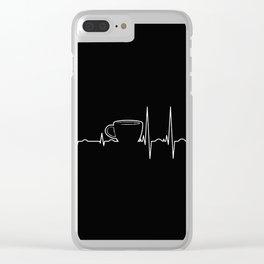 Coffee cardiac in black Clear iPhone Case