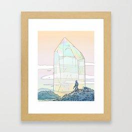 Giant Crystal 2 Framed Art Print