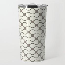 Leather pattern. Dumbbells Travel Mug