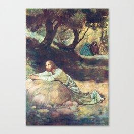 Jesus at Gethsemane Canvas Print