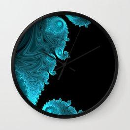 Black Ice - Fractal Art Wall Clock