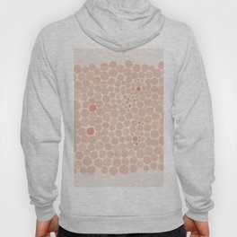 Retro Pink Orange Polka Dots  Hoody