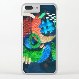 abstract embroidery Clear iPhone Case