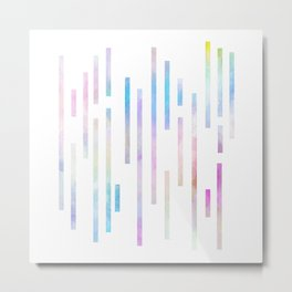 Minimalist Lines - Pastel Metal Print