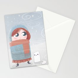 Winter Girl Stationery Cards